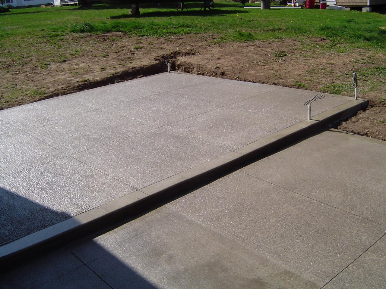 Concrete Used For Patios Can Be Shaped, Molded, Stamped, And Colored.  Finishes Range From Smooth, Brushed, Swirled. The Possibilities Are Endless  And ...